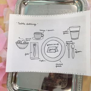 Image: English Tea Place Settings