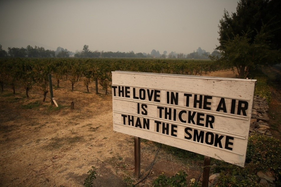 Image: Sign: love thicker than smoke
