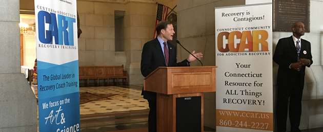 CT Senator Richard Blumenthal speaking at the Opiod Addiction & Recovery Day at the Capitol
