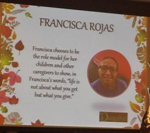 Image of Francisca Rojas' Family Caregiver Nomination Slide Presentation